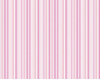 "Riley Blake Designs ""Sweet Baby Girl"" by Doodlebug Designs. 100% cotton, pattern C4293 Pink - Stripes."