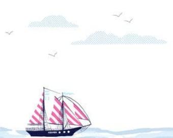 Michael Miller Fabrics - Sail Away Bloom - DC5620-BLOM-D