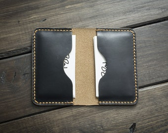 Leather Business Card Holder PERSONALIZED, Beautiful Slim Design, Personalized Leather Business Card Case - 01BBC