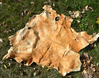 Brain Tanned Buckskin Leather - Natures Velvet Braintan - Mountain Clothing, bags, beadwork - 8.2.2.6