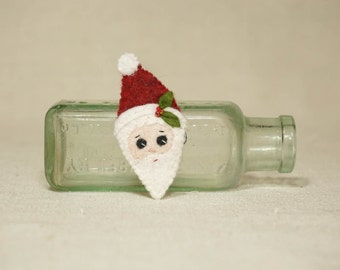Christmas Santa Brooch, Santa Pin, Wool Felt Christmas Decoration *Ready to ship