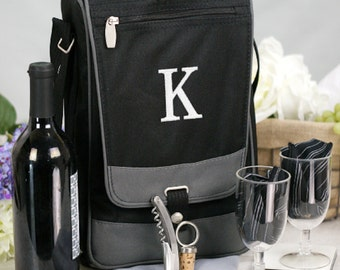 Personalized Embroidered Initial Barossa Wine Tote