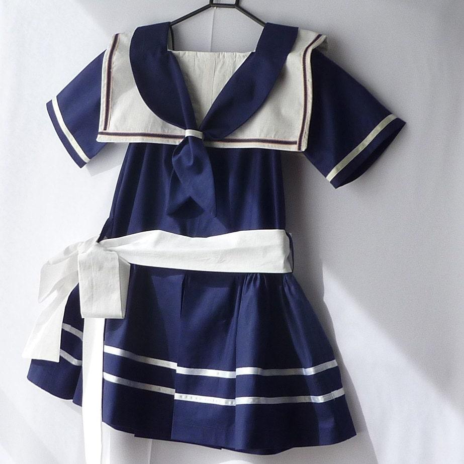 Sale: Sophie BFG Sailor Dress Navy Blue White Dress size