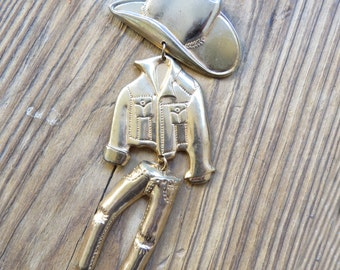 Vintage Dancing Cowboy Pin/Brooch Jointed cowboy