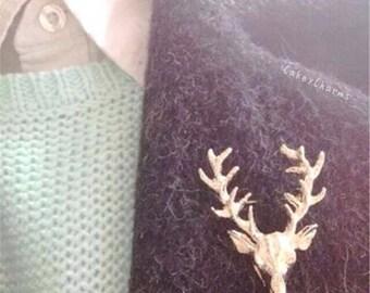 Deer Antler Pin Brooch