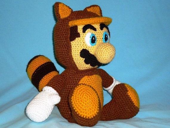 Baby Mario Amigurumi : Tanooki Mario amigurumi pattern geekery crochet raccoon