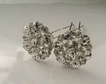 2 Wedding hair pins / hair jewelry / hair accessory