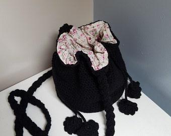 Crochet Bag, Cross strap, Handmade, Shoulder bag, messenger bag