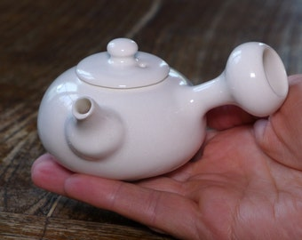 Tiny porcelain kyusu, 80 or 90 ml