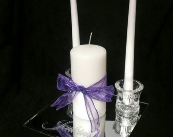 Personalized Etched Unity Candle Set