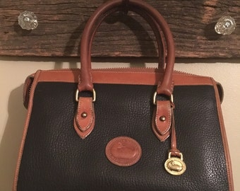 1980s vintage leather Dooney & Bourke 2 strap classic leather handbag