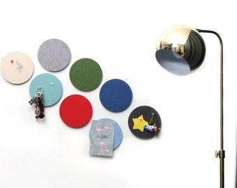 Felt Sandwich Smart Board (C) - circular, felt wall decor sticker, interior accessories / 10DO50