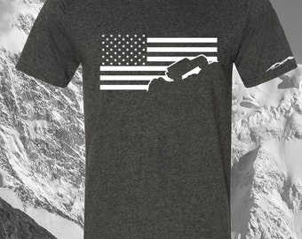 Jeep Wrangler Shirt USA American Flag