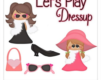 Let's Play Dressup - Exclusive PSD Layered Templates by Kristi W. Designs