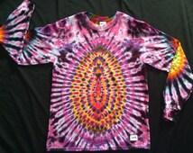 LSM53 Psychedelic Turtle Egg, Long Sleeve Tie Dye T-shirt, Fits Unisex Medium