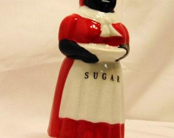Aunt Jemima Sugar Shaker Reproduction Black Americana Kitchen Housewares #542