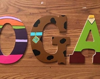 Scooby Doo Wooden Letters