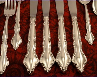 WAKEFIELD Dinner Service Vintage 1965 Silver Plate Silverware Flatware Set by International DeepSilver