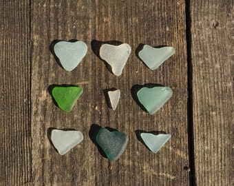 Natural Sea Glass Hearts Naturally Heart Shaped Jewelry Supply