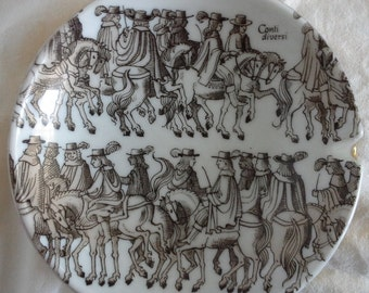 western germany ashtray with conti diversi men on horseback
