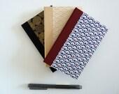 Répertoire téléphonique. Carnet d'adresses. Papier washi, motifs japonais. 80 pages