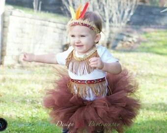 Tribal Tutu Set - Native Costume Indian Costume