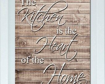 Rustic Kitchen Wall Art, Sabby Chic Decor, Kitchen Decor, Kitchen Wall Art, Home Decor Housewarming Gift Christmas Gift One 11X14 Print