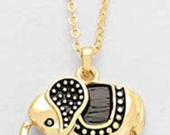 Cute Elephant Necklace, Elephant Charm Necklace, Elephant Necklace, Classy Elephant Necklace