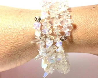 Opaline's  chips  Bracelet three with rounds
