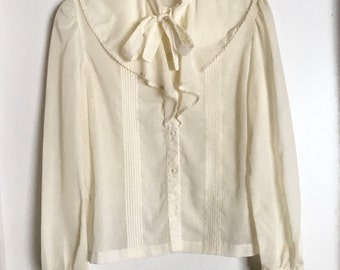 vintage bow blouse