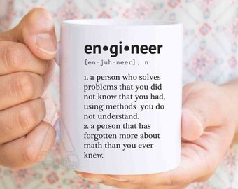 Gifts for engineers, engineer mug, engineer graduation, gift ideas for engineering students, funny engineering gifts, retirement gifts MU189