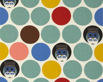 Family Owlbum (Flannel Fabric) by Charley Harper from the Nurture collection for Birch Fabrics