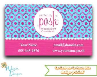 posh marketing cards etsy. Black Bedroom Furniture Sets. Home Design Ideas