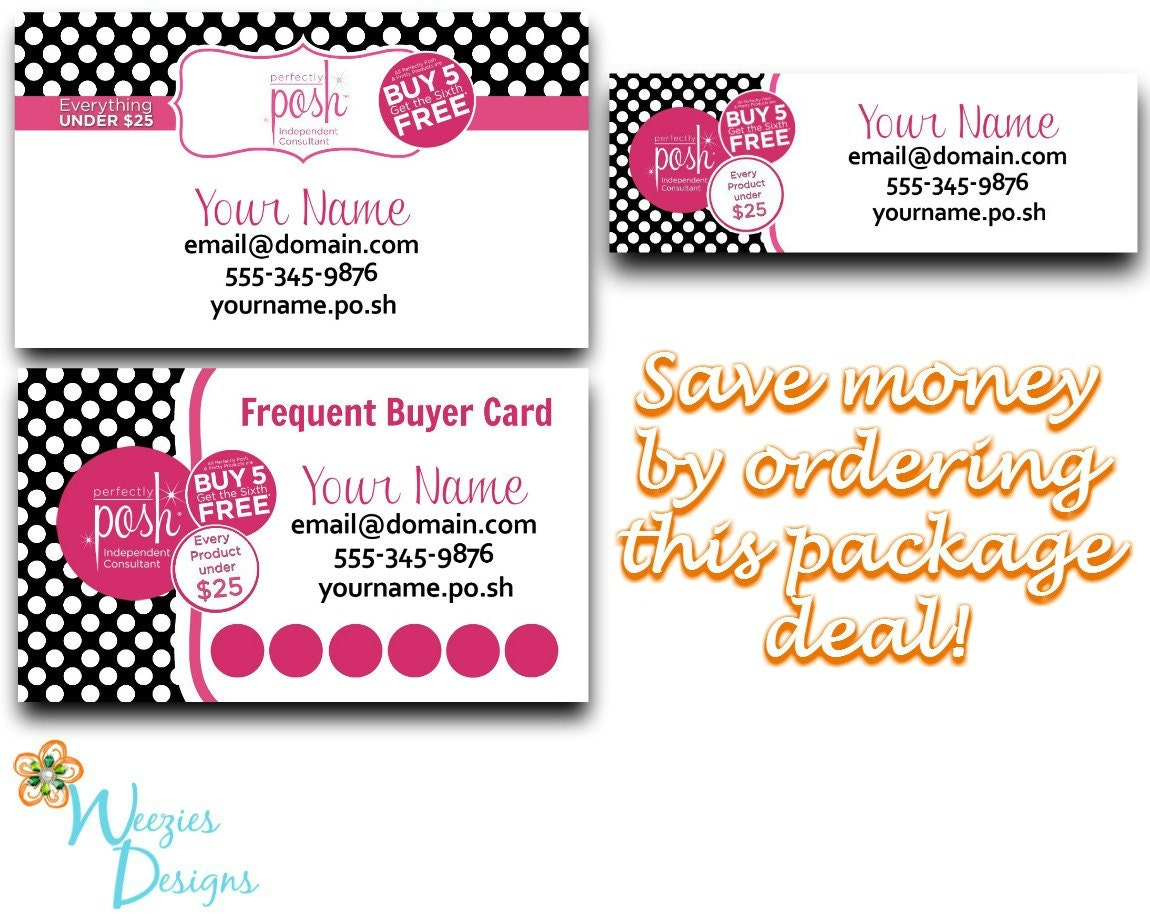 perfectly posh business package business card direct sales. Black Bedroom Furniture Sets. Home Design Ideas