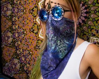 Festival Scarf // Art Scarf // Burning Man Bandana // Dust Mask // Psychedelic Clothing