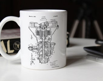 Henry Ford Transmission Patent Mug, Car Part Mug, Engine Mug, Automotive Decor, Vintage Car, PP0289