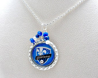 Montreal Impact Soccer Necklace, Montreal Impact Jewelry, Montreal Impact Accessories, Montreal Impact Soccer, Sports Jewelry, Soccer