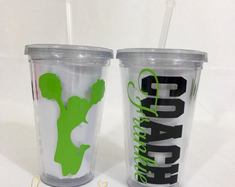 Personalized Cheer Coach Tumbler