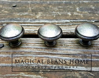 Weathered Silver Drawer Knobs Farmhouse Decor Country Farmhouse Furniture Knobs Rustic Cabinet Knobs Dresser Knobs Furniture Hardware