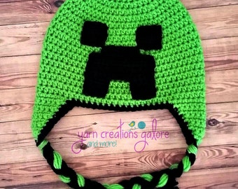 Crochet Minecraft Hat