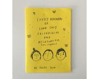 Lovely Reminders of Long Lost Friendships and Relationship (yes, singular) zine || perzine, cute zine, zine, love zine, sad zine, emo zine