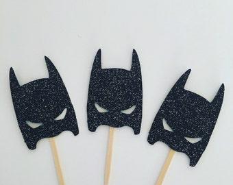 Modern day batman cupcake toppers