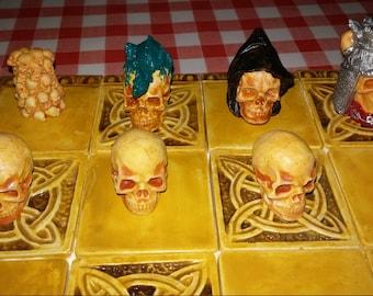 Gothic Skull Chess set
