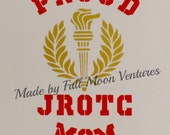 JROTC vinyl decal ,car sticker proud JROTC Mom ,Dad, Grandma ,Grandpa, Aunt , Uncle permanent car decal aproximatly 5 inches