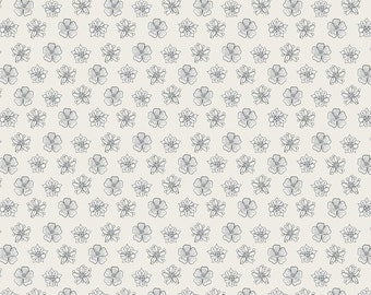 The Botanist A122-1 Cream small floral heads Lewis & Irene Patchwork Quilting Fabric