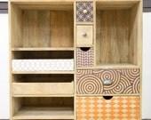 Convenient design multi-drawer printed wood
