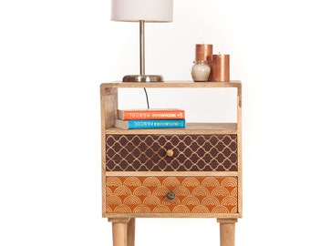 Side table / bedside design wood