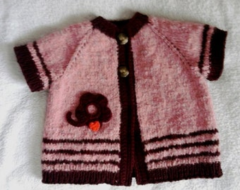 Hand made    knitted  tunic-vest  for girls.