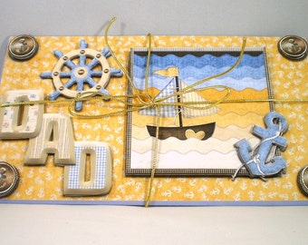 Handmade 3D money wallet for Dad,nautical,birthday,fathers day