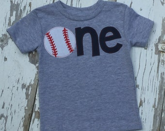 One Baseball Shirt, Baseball shirt, Baseball Birthday, First birthday, Baseball tee, 1st Birthday, Birthday shirt,